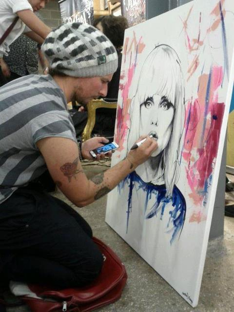 Matthew Furness Painting live in the gallery!