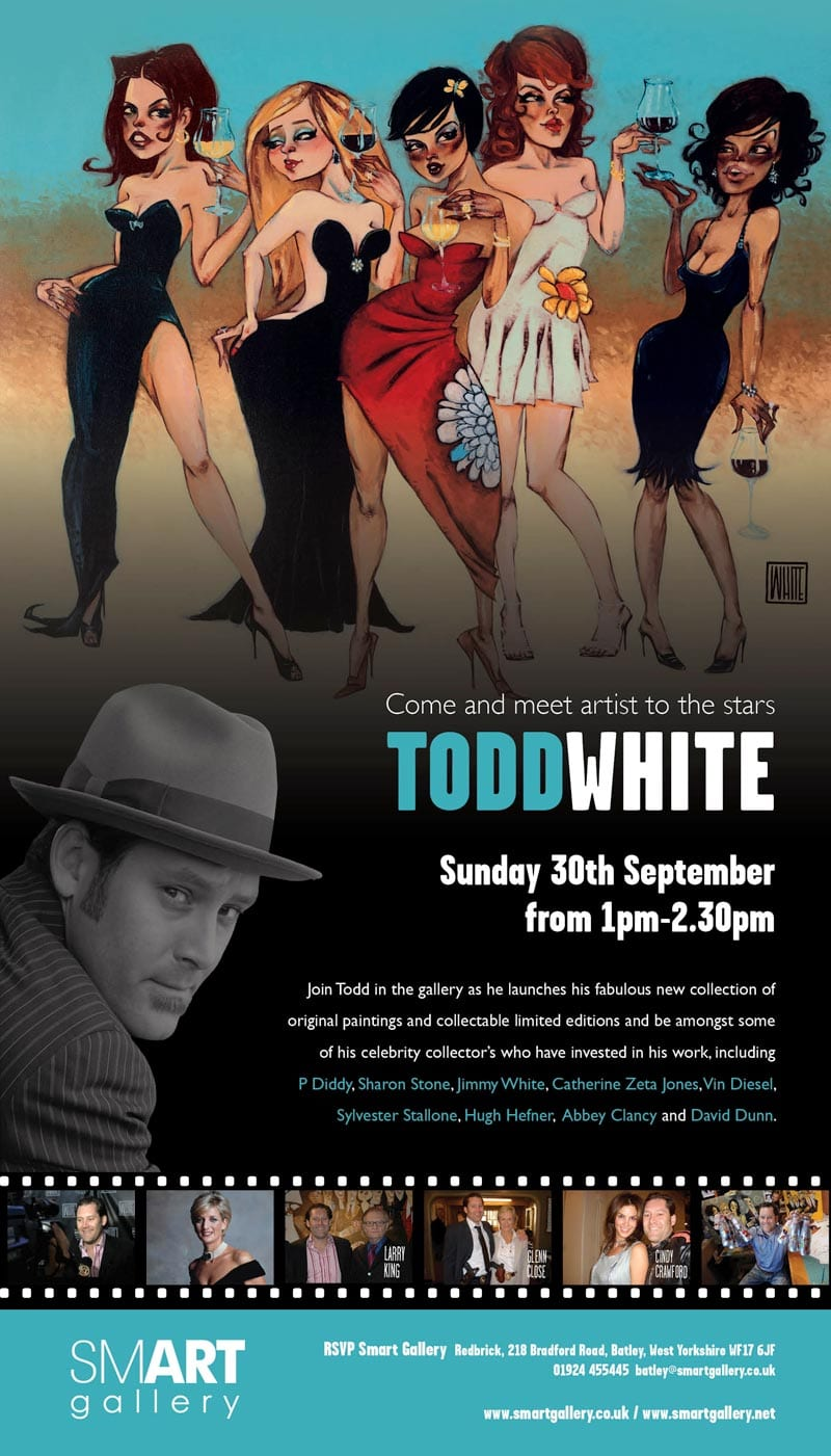 MEET ARTIST TO THE STARS TODD WHITE AT SMART GALLERY – 30th September