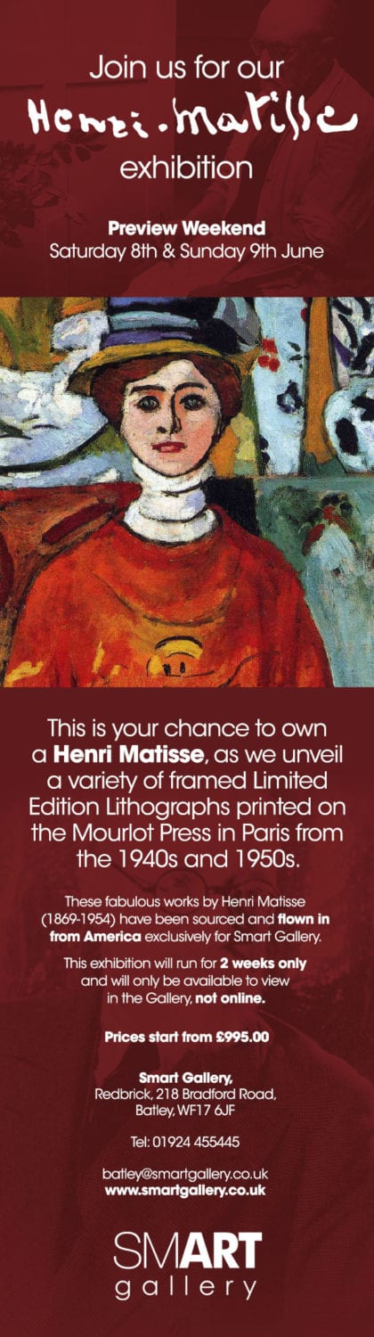 Matisse Exhibition | Fantastic Opportunity to own a Matisse Limited Edition Lithograph