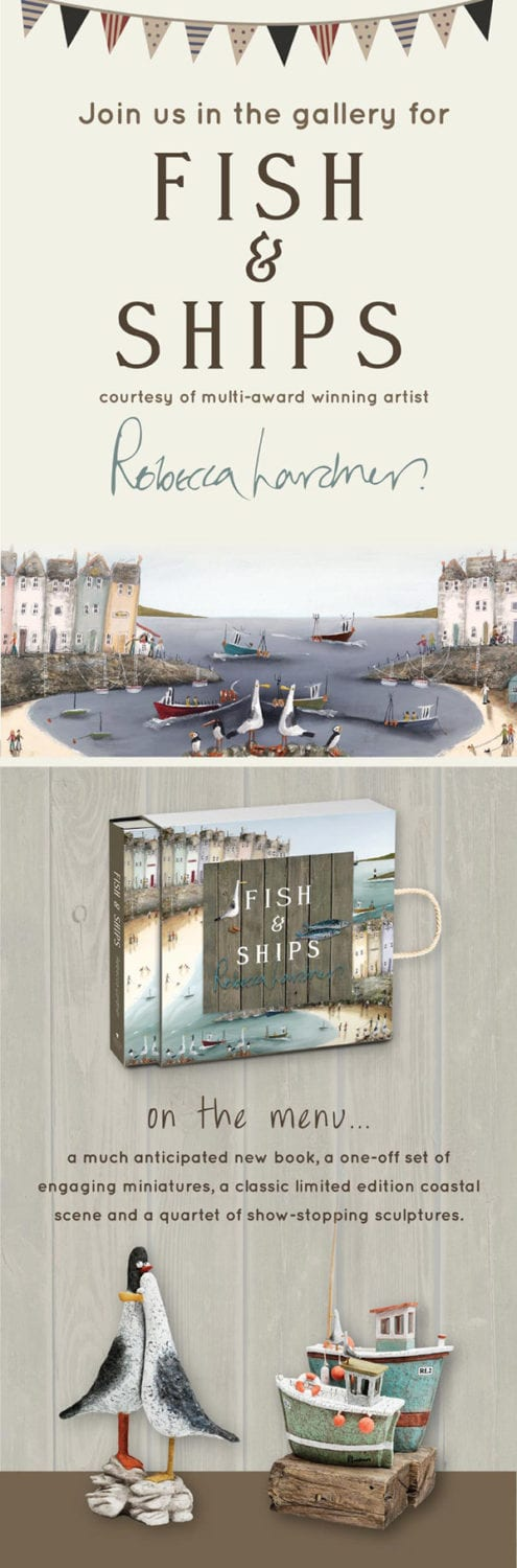Fish and Ships – New Collection by Multi Award Winning Artist, Rebecca Lardner!