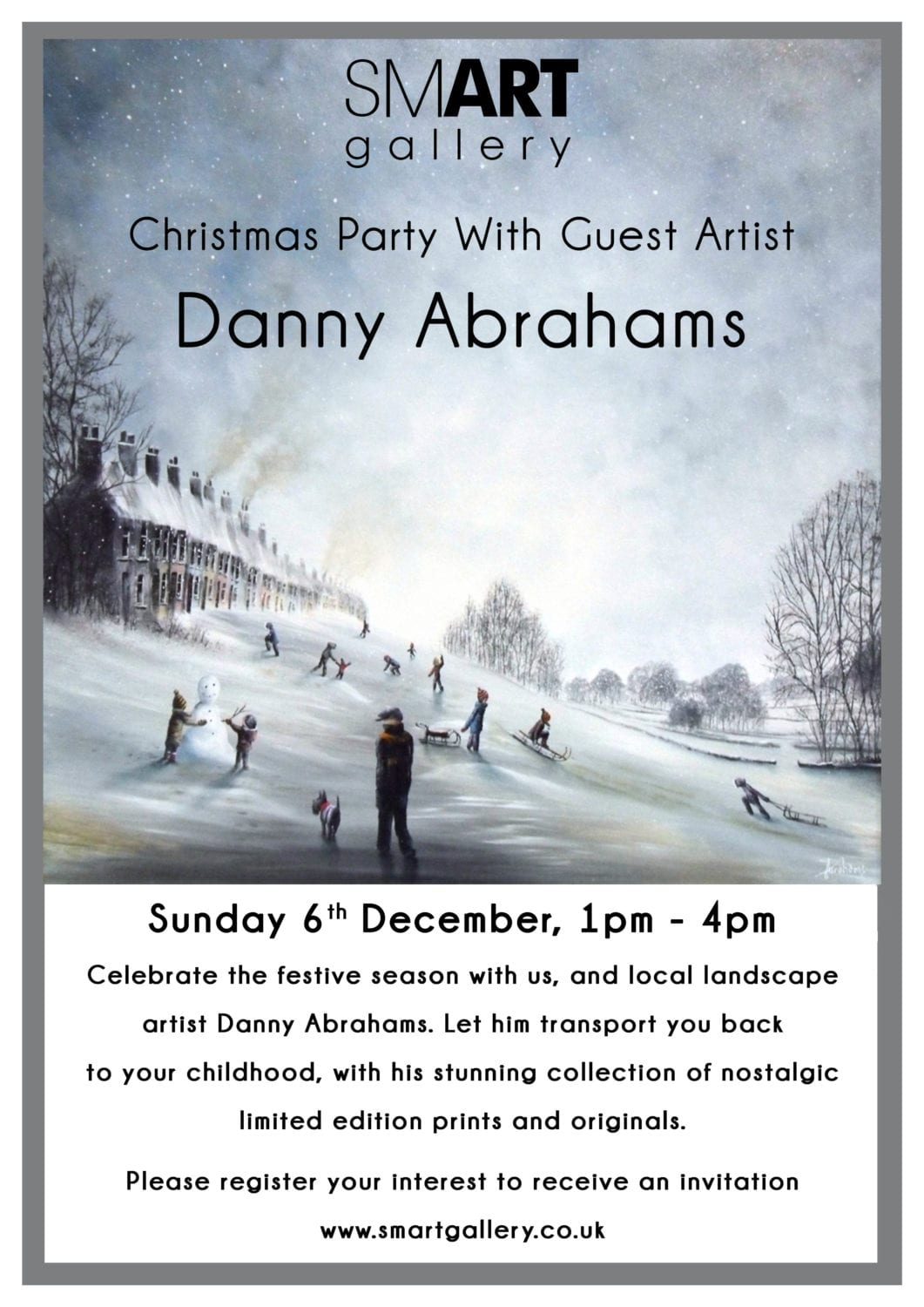 Christmas Party with Guest Artist Danny Abrahams | Sunday 6th December 2015