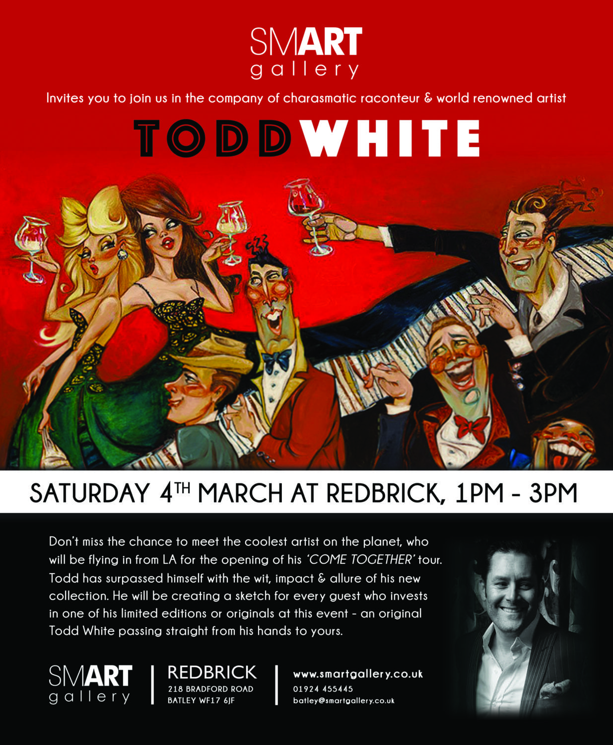 MEET THE COOLEST ARTIST ON THE PLANET, TODD WHITE – SATURDAY 4TH MARCH, 1PM – 3PM