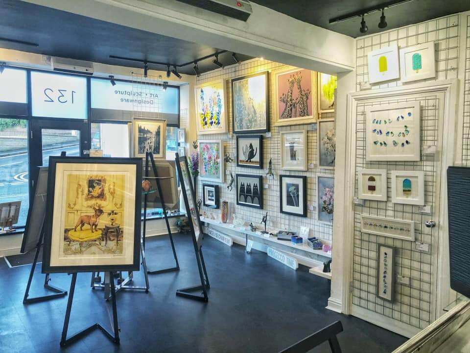 Photograph of the interior of Smart Gallery, an independent art gallery in Chapel Allerton